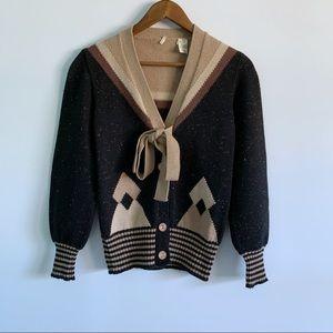 Wool Blend Women's Multicolor Knit Sweater